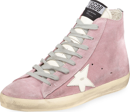 Golden Goose Deluxe Brand Francy Suede Star High-Top Sneakers