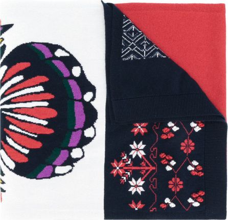 Barrie intarsia cashmere scarf