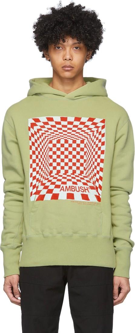 Ambush Green Checkered Print Hoodie