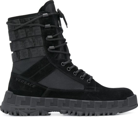 Versace Lace-up combat boots