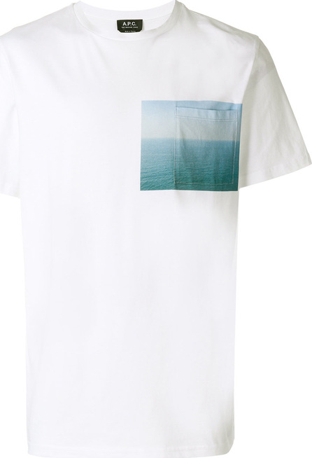A.P.C. Graphic print pocket T-shirt