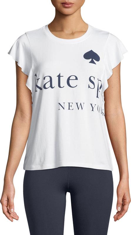 Kate Spade New York flutter-sleeve graphic logo tee