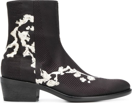 Haider Ackermann Embroidered textured boots