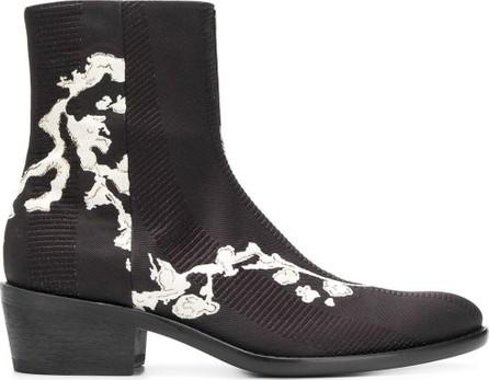 Haider Ackermann Embroidered textured boots