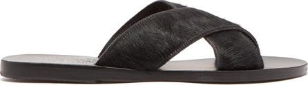 Ancient Greek Sandals Thais calf-hair sandals
