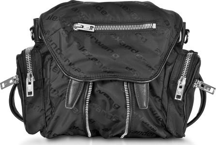 Alexander Wang Mini Marti Black AW Jacquard Logo Backpack