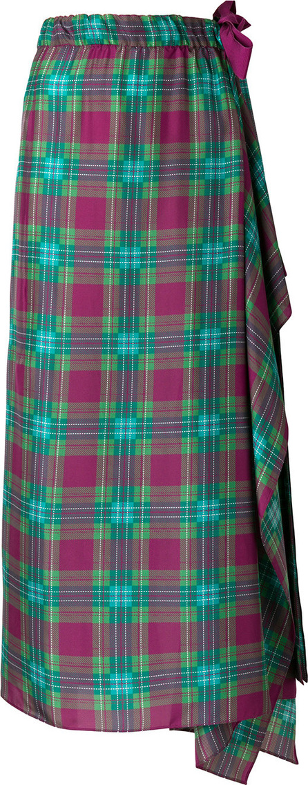 Patterned draped skirt