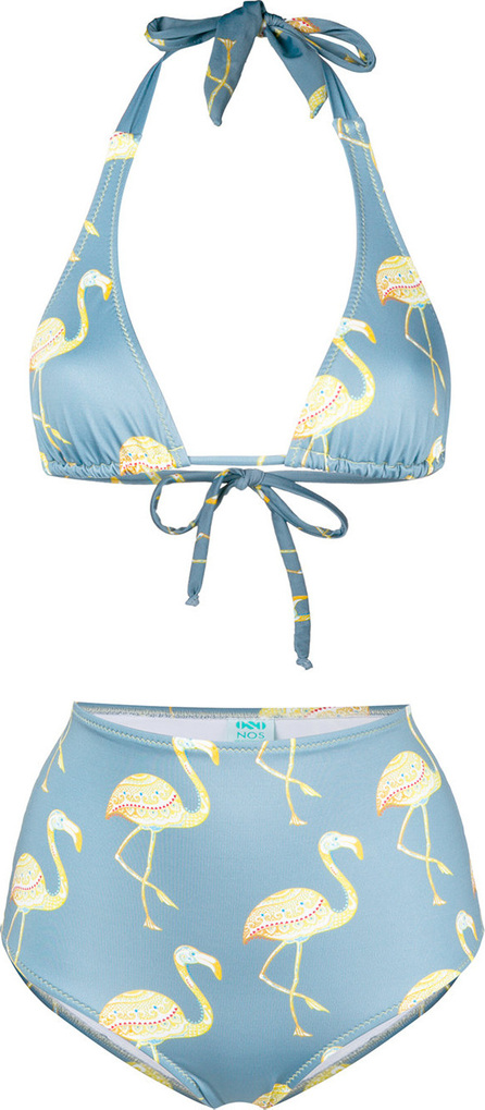 Nos Beachwear Printed high-waist bikini set
