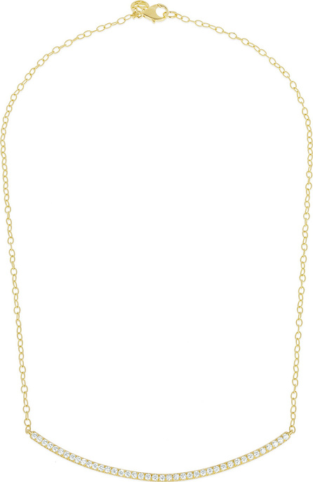 Carelle Moderne 18k Diamond Bar Necklace