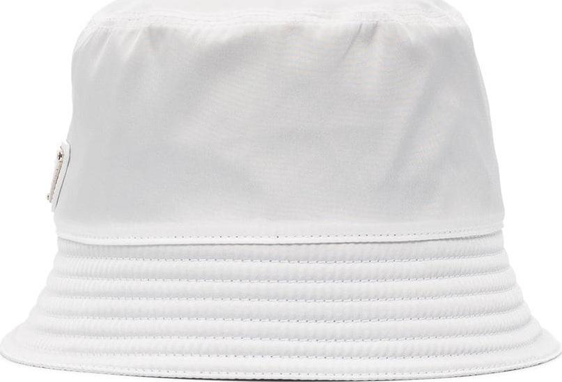 18c75a7638555 Prada White logo bucket hat - Mkt
