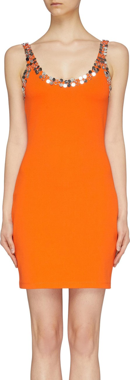 3.1 Phillip Lim Ring paillette collar tank dress