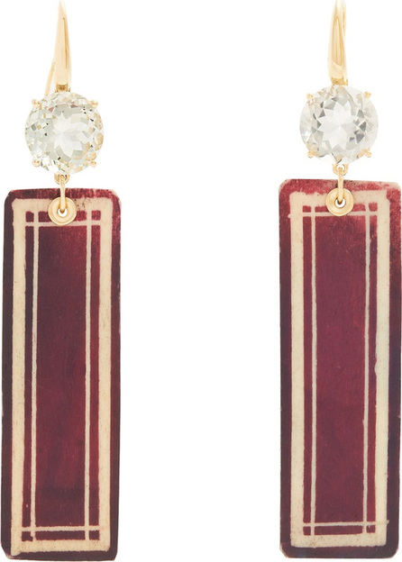 Francesca Villa Prasiolite & yellow-gold Easy Living earrings