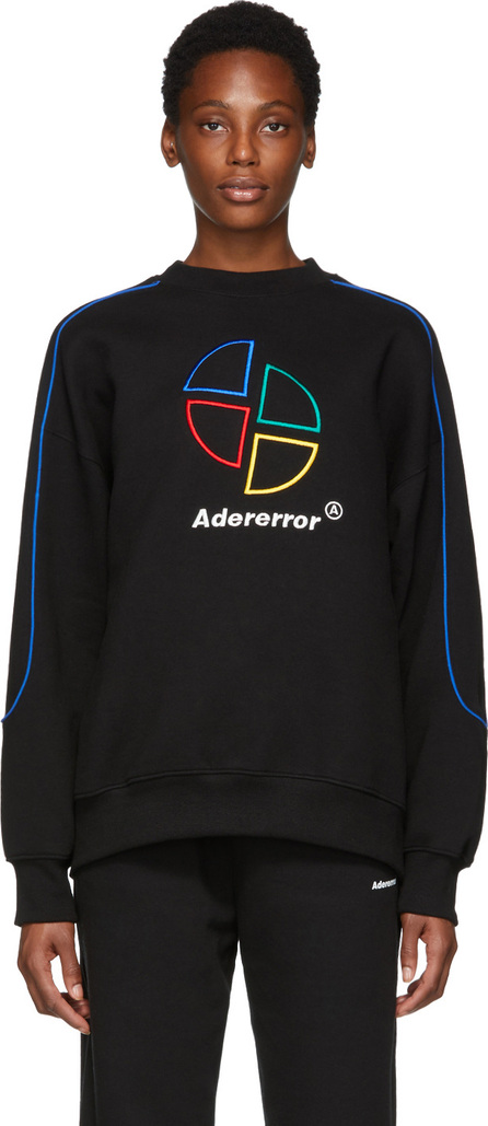 ADER error Black Slice Logo Sweatshirt