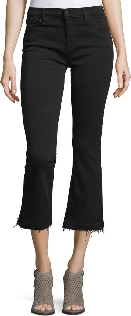 J BRAND Selena Cropped Boot-Cut Jeans  Black
