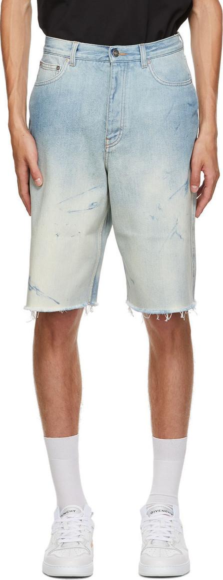 Givenchy Blue Denim Raw Edge Shorts