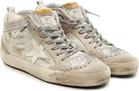 Golden Goose Deluxe Brand Mid Star Suede Sneakers with Leather