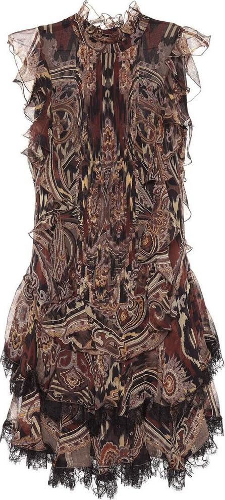 Etro Paisley silk chiffon dress