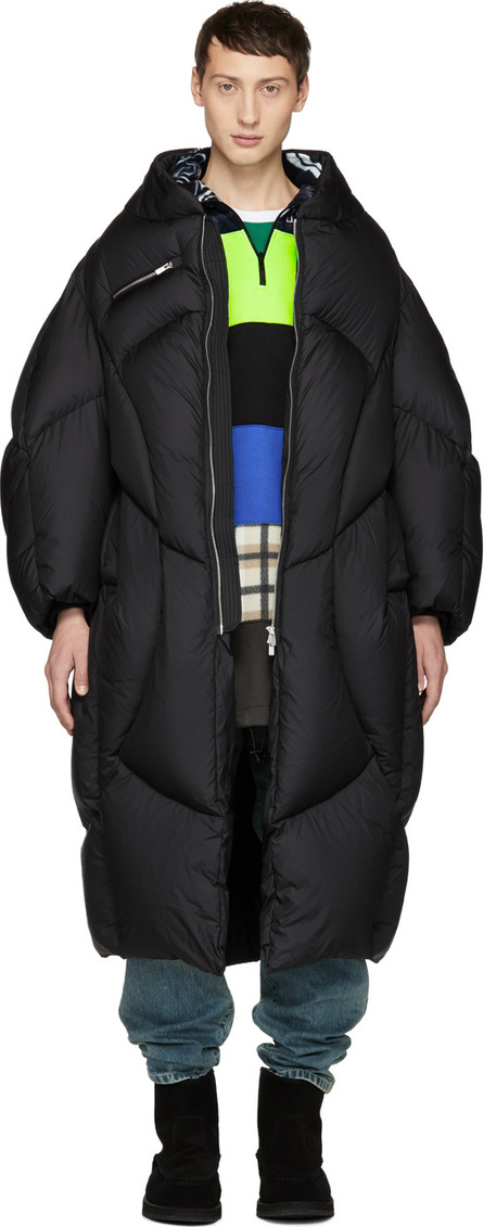 Chen Peng Black Down Long Jacket