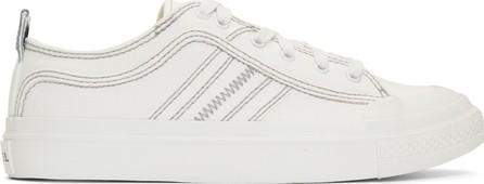 Diesel White S-Astico Low Sneakers