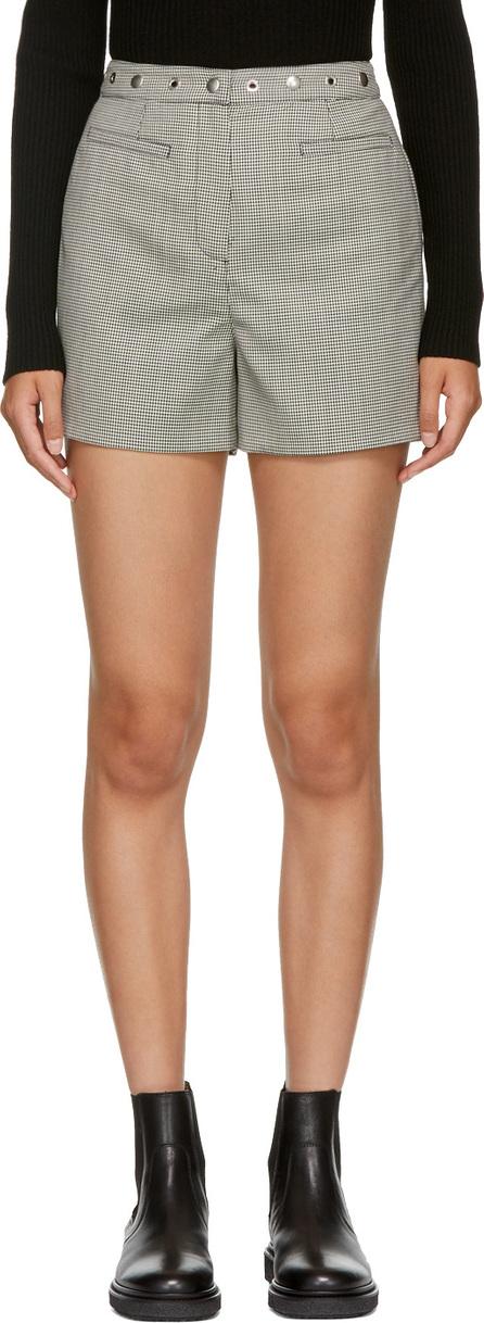Alexachung Black & White Micro Houndstooth Shorts