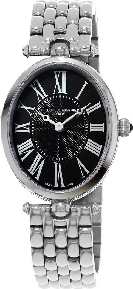 Frederique Constant Ladies' Classics Art Deco Stainless Steel Watch, Black