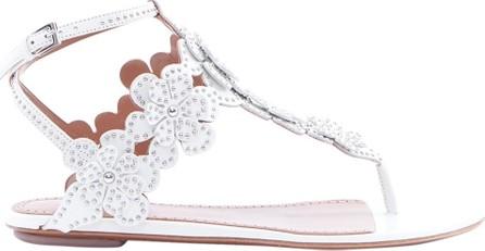 Azzedine Alaia Studded Flower Embellished Sandals