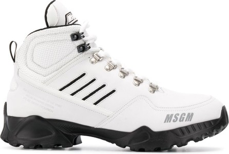 MSGM Hiker-style high-top sneakers