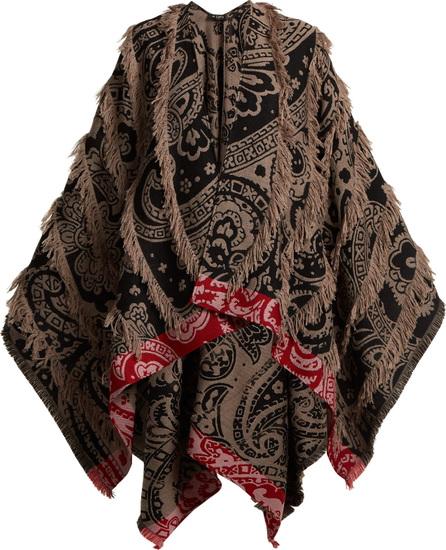 Etro Tasselled wool-blend poncho