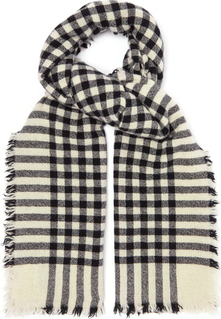 Begg & Co Beaufort Washed checked scarf