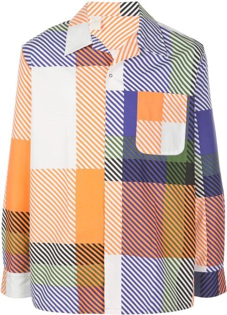 N. Hoolywood Camp collar colour-block shirt