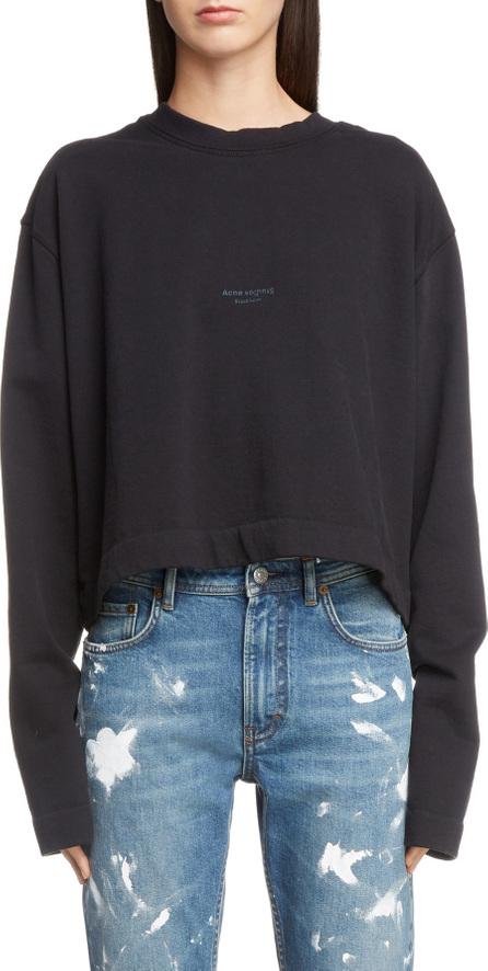 Acne Studios Boxy Long Sleeve Logo Sweatshirt