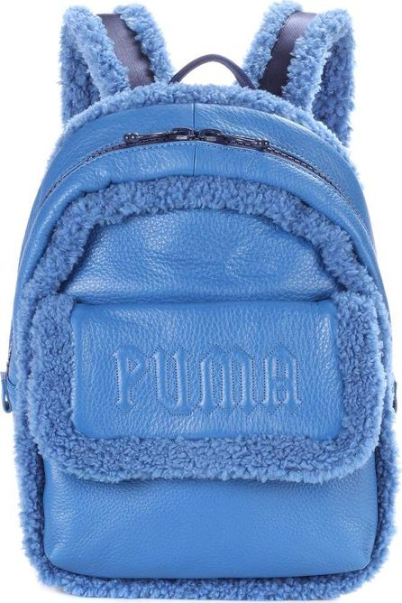 FENTY PUMA by Rihanna Sherpa-trimmed leather backpack
