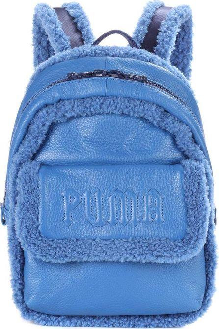 FENTY PUMA by Rihanna Sherpa-trimmed leather backpack