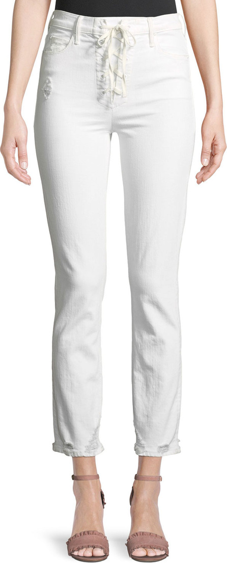 MOTHER Dazzler Lace-Up Ankle Skinny Jeans