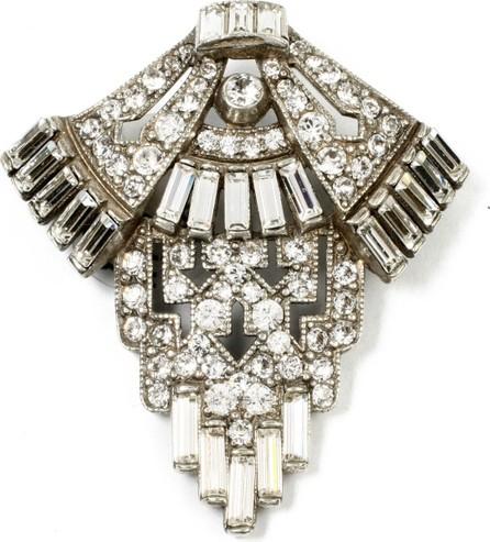 Ben-Amun Geometric Crystal Deco Brooch