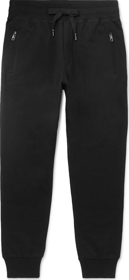 Dolce & Gabbana Slim-Fit Tapered Logo-Appliquéd Cotton-Jersey Sweatpants