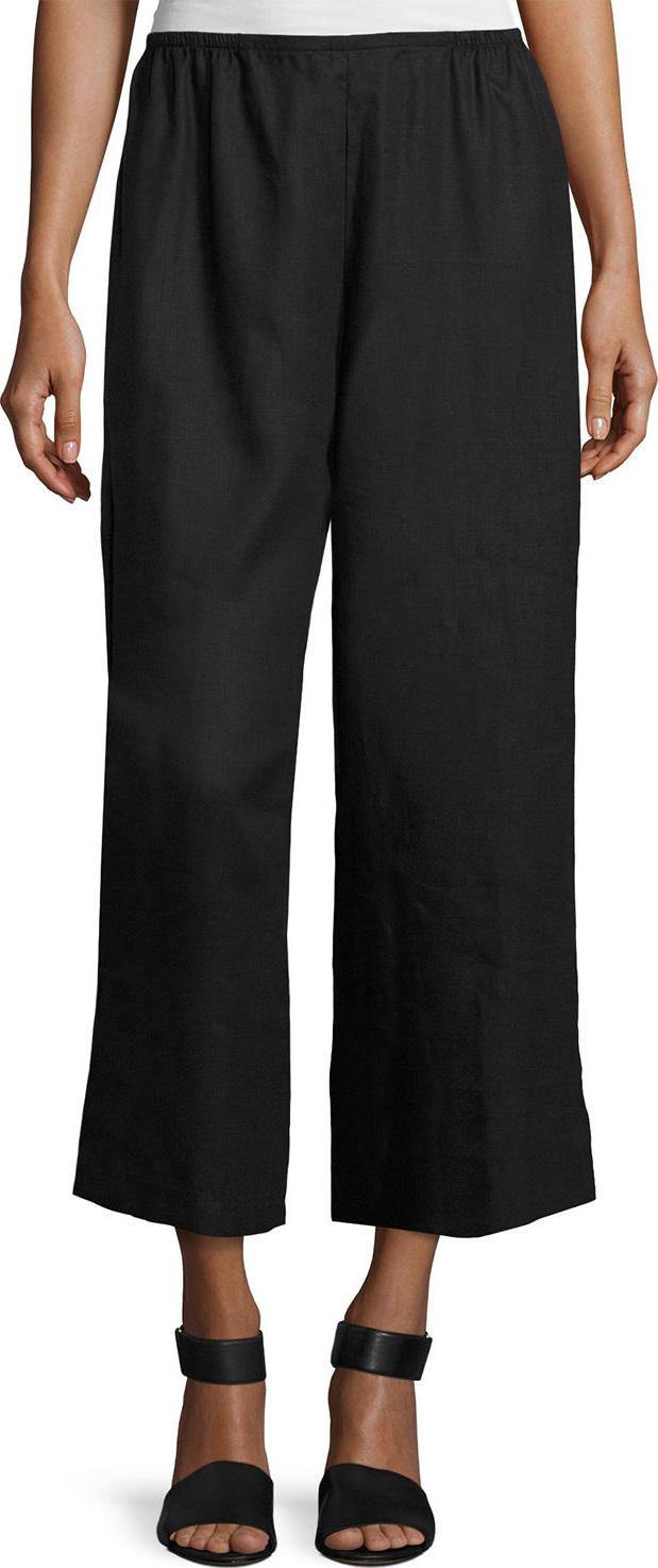 Caroline Rose - Tissue Linen Wide-Leg Pants