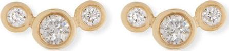Zoe Chicco 14k Curved Graduated Diamond Stud Earrings