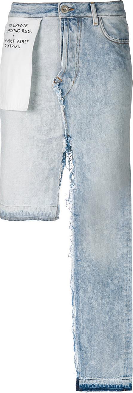 Ben Taverniti Unravel Project Asymmetric denim midi skirt