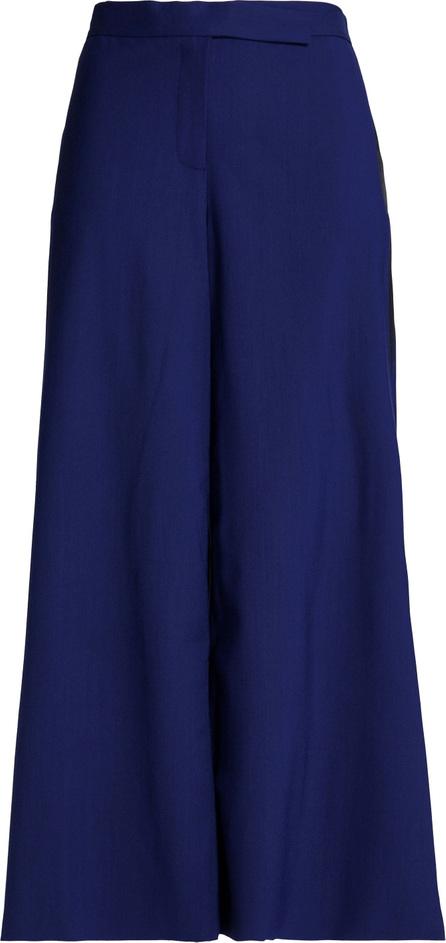 Amanda Wakeley Harmony satin-paneled crepe culottes