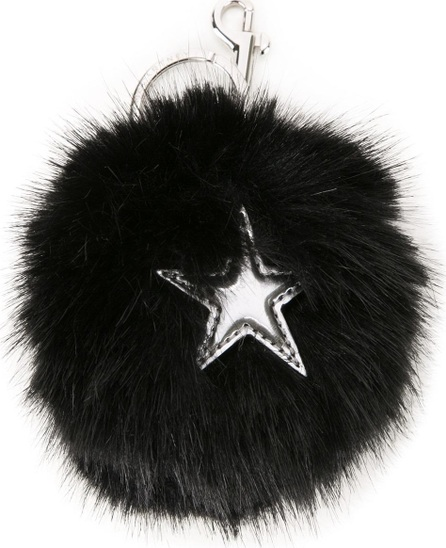 Stella McCartney faux fur star keyring