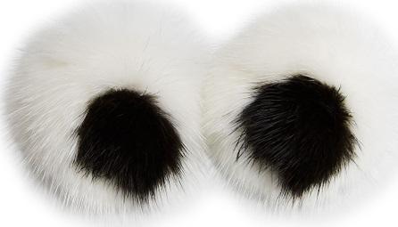 Anya Hindmarch Eyes Mink Sticker for Handbag, White