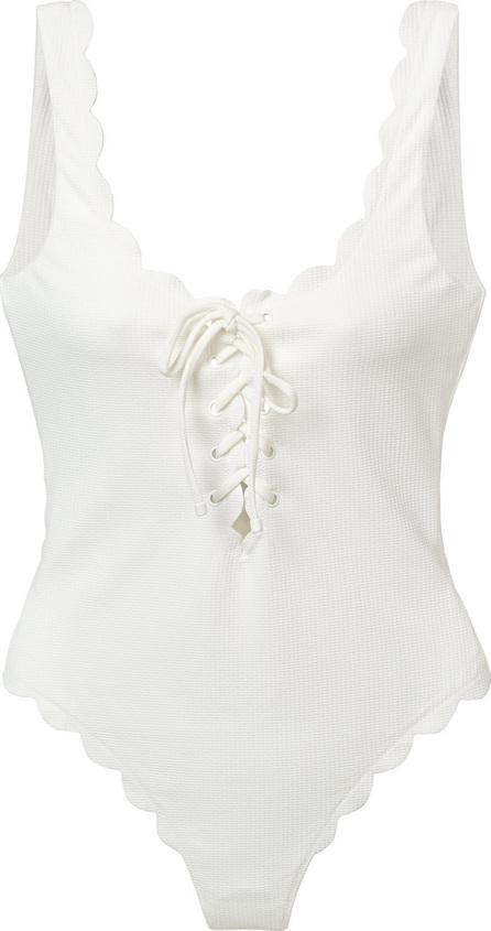 Marysia Scalloped lace-up swimsuit