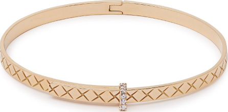 Bottega Veneta Intrecciato 18kt gold & diamond bracelet