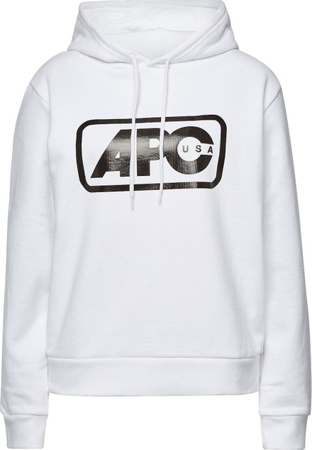 A.P.C. Lettrism Printed Cotton Hoody
