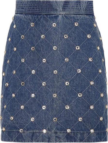 Gucci Embellished denim skirt