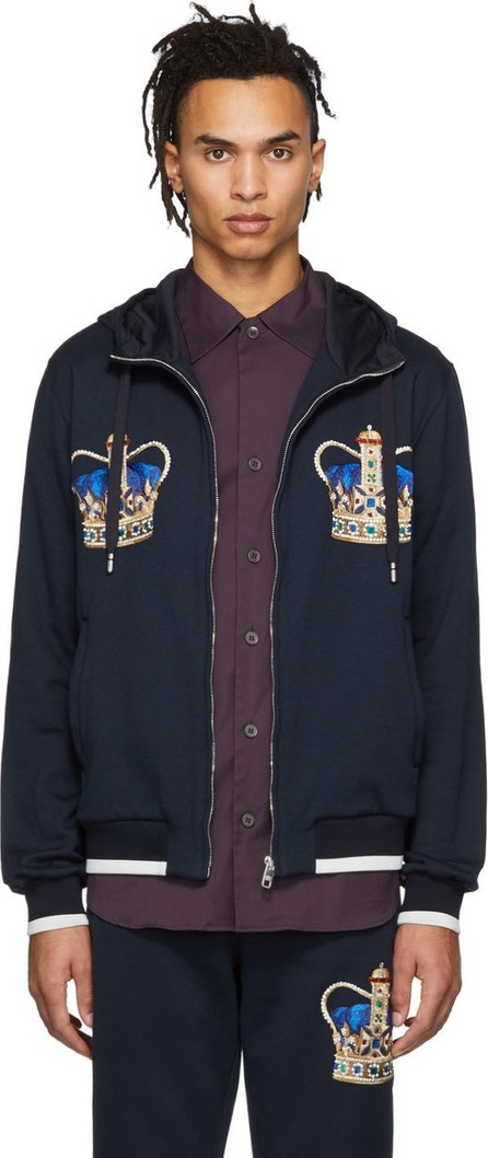 Dolce & Gabbana Navy Double Crown Hoodie