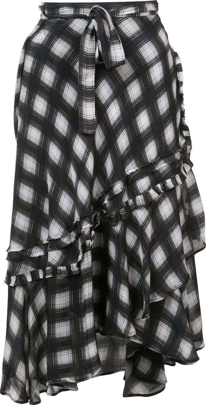 Preen - ruffled checked skirt