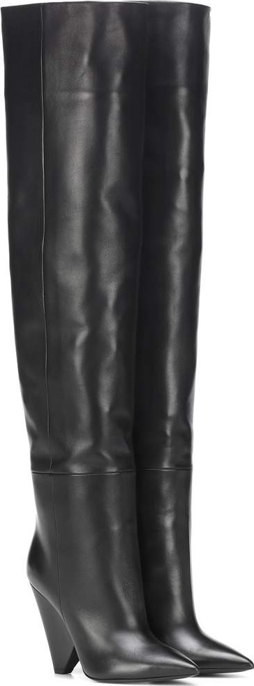 Saint Laurent Niki 105 leather boots
