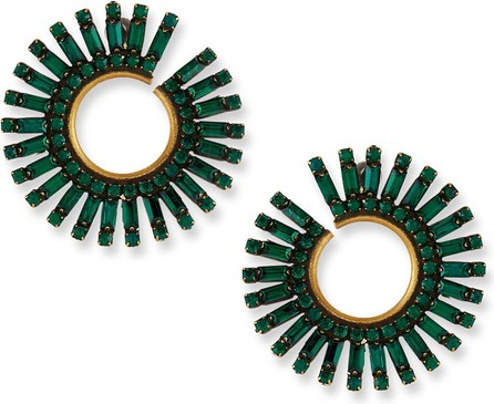 Auden Green Baguette Crystal Curler Earrings